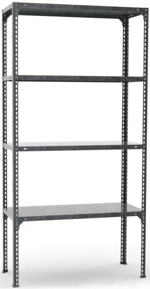 ΡΑΦΙΕΡΑ ΓΑΛΒΑΝΙΖΕ (τύπου Dexion) multi kit, 1,60-(35x80/4 ράφια)