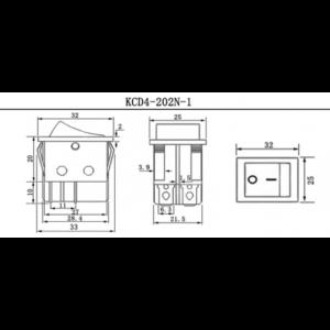 ΔΙΑΚΟΠΤΗΣ ΒΕΡΓΑΣ 20A-125V, 15-250VAC